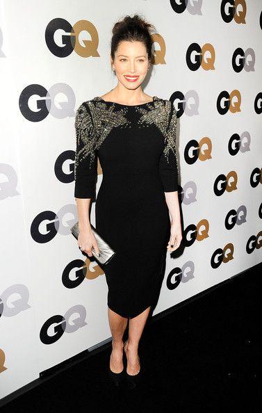 8dcac626307a Jessica Biel Beaded Dress - Jessica Biel Looks - StyleBistro