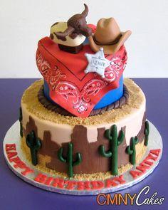 cowboy cakes Cowboy Themed Birthday Cake CMNY Cakes Western