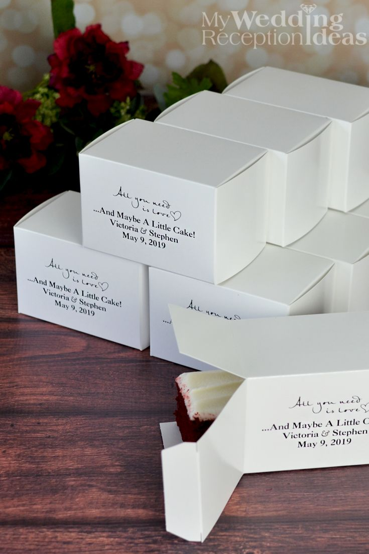 5 x 3 Custom Printed Cake Slice Favor Boxes (Set of 50) | Cake slice ...
