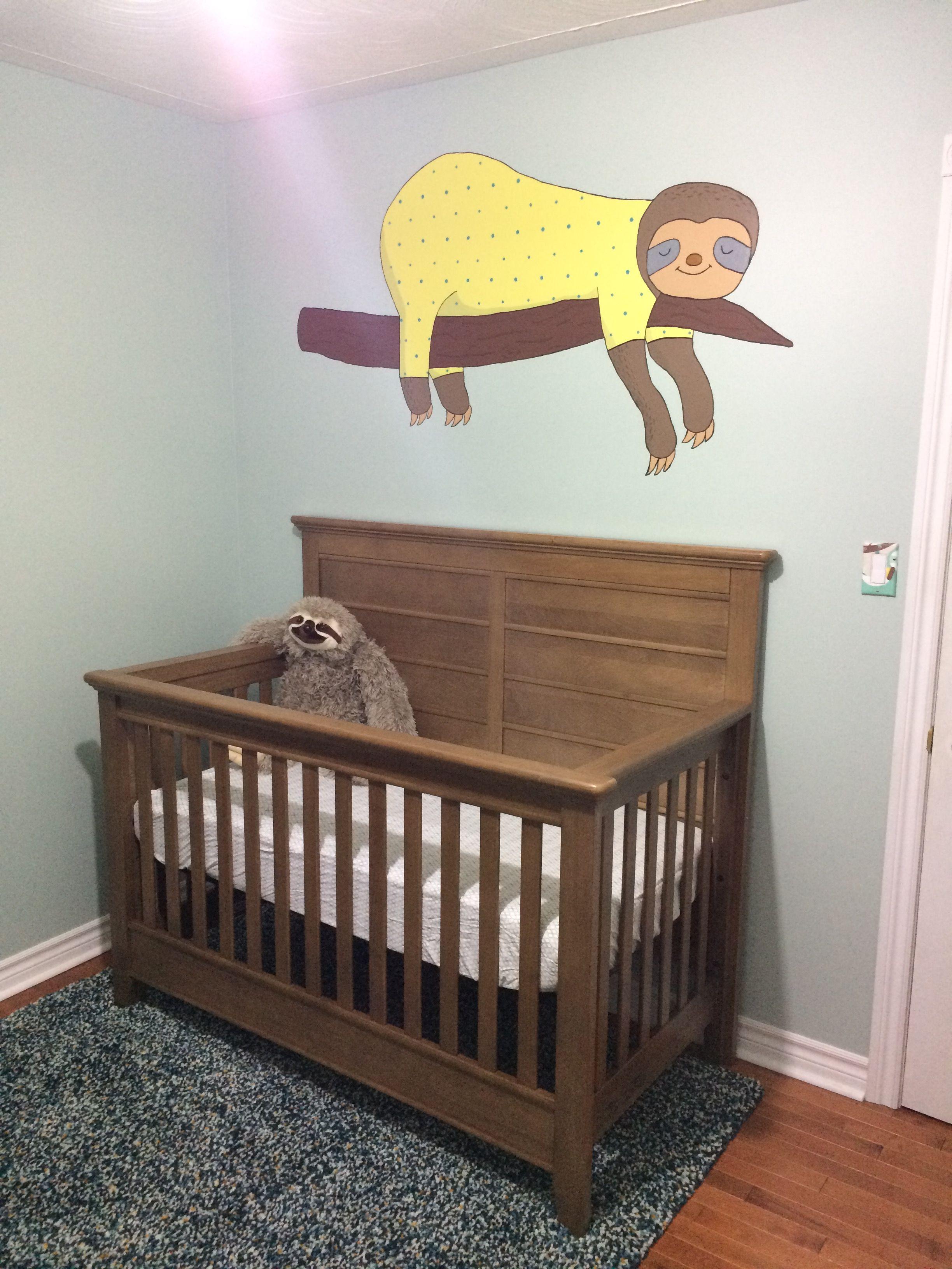 Sloth Mural Nursery | Nursery mural, Home projects, Baby room
