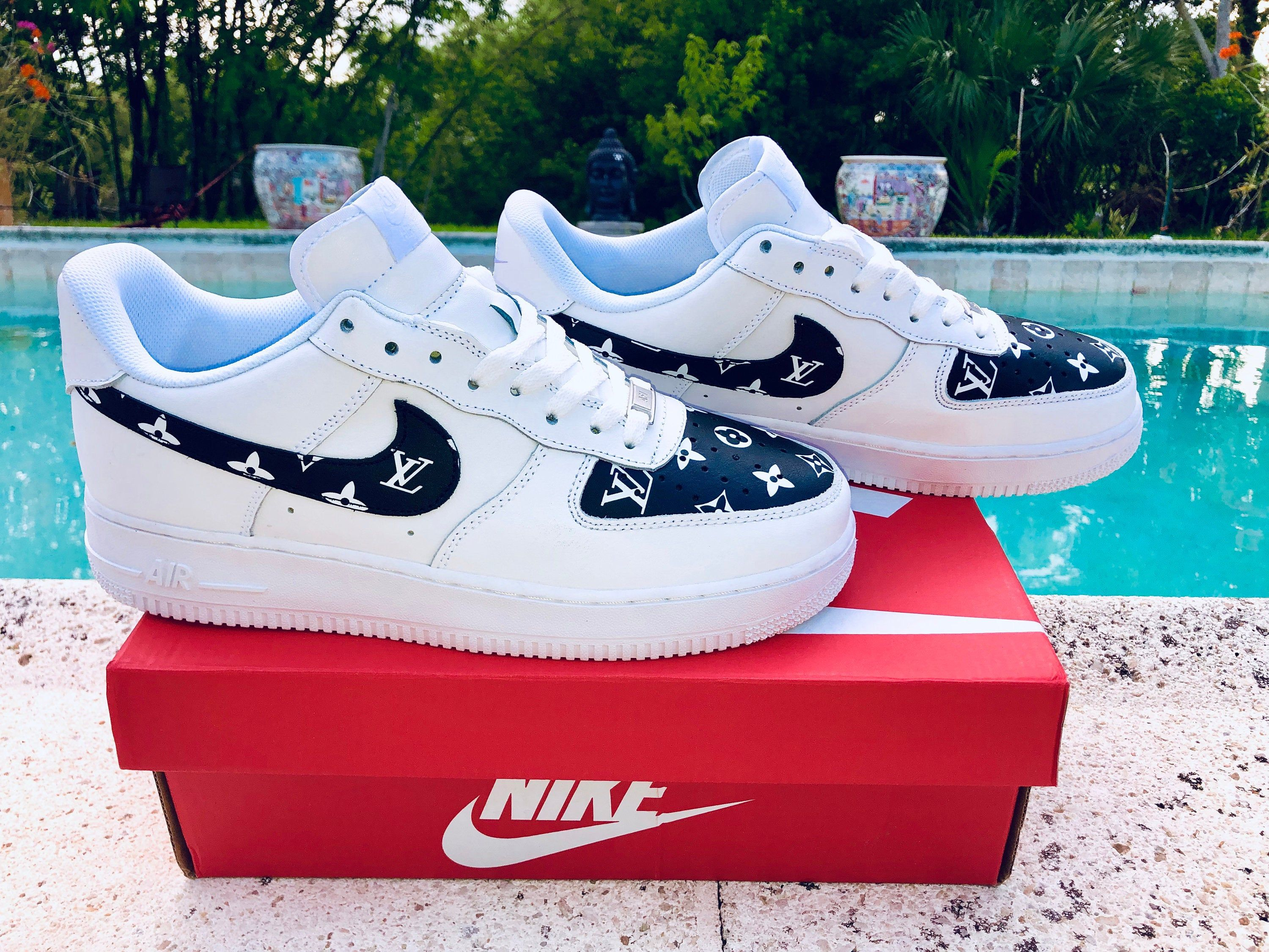 Nike Air Force 1 x Off L und V Inspired Custom Design | Etsy
