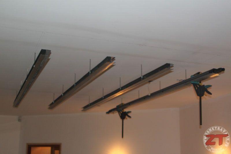 Brico Creation D Un Faux Plafond Avec Ruban Led Et Spots Avec