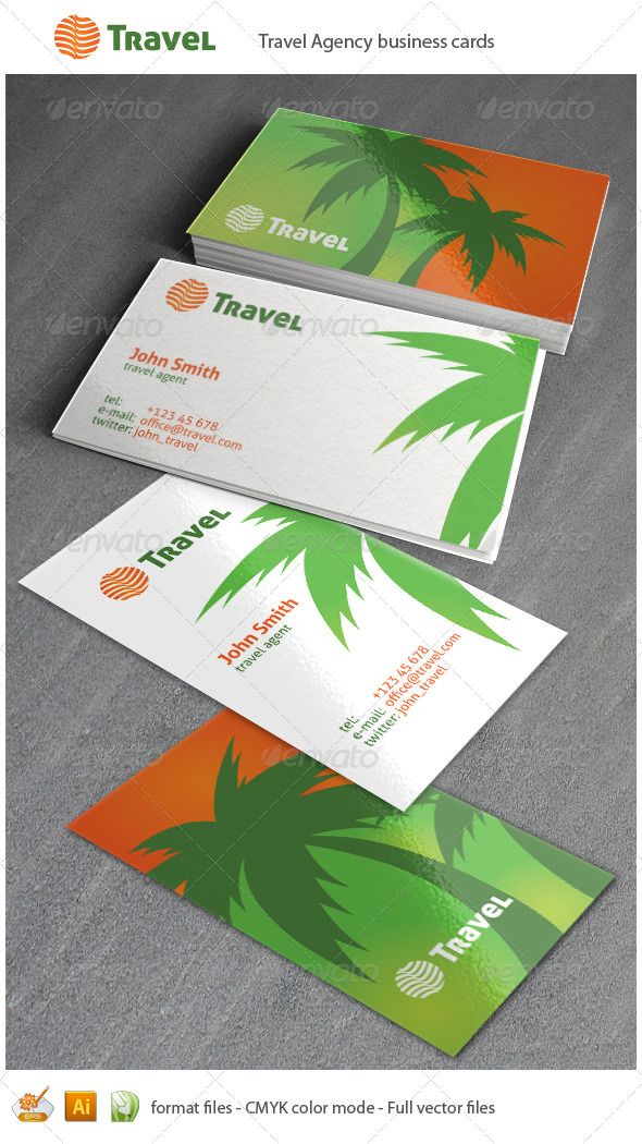 Travel Business Cards | Business cards, Adobe and Business
