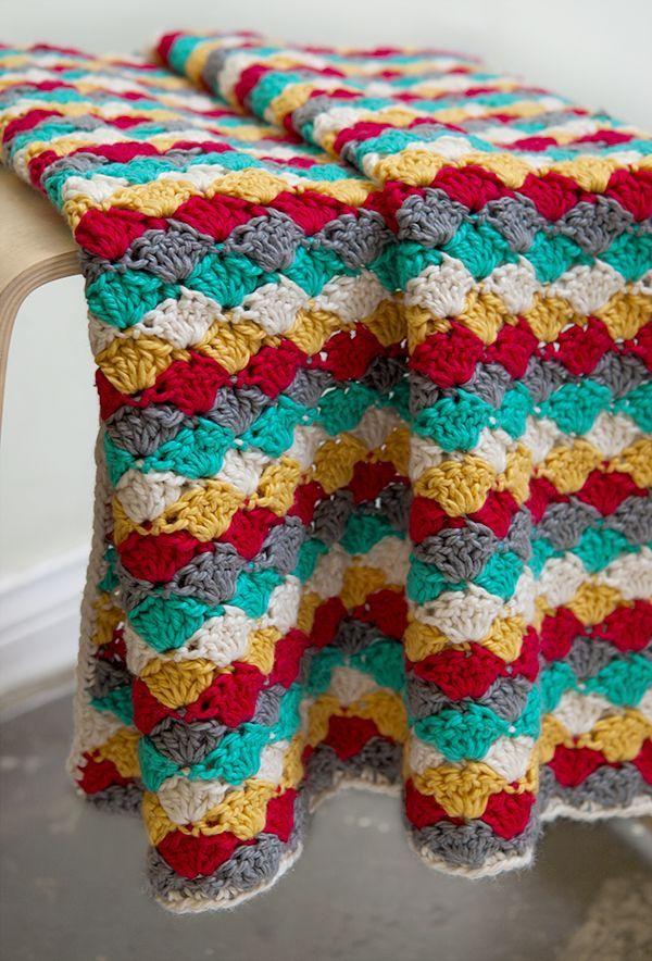 25 Fabulous and Free Crochet Throw Patterns - | Dulce hogar, Manta y ...
