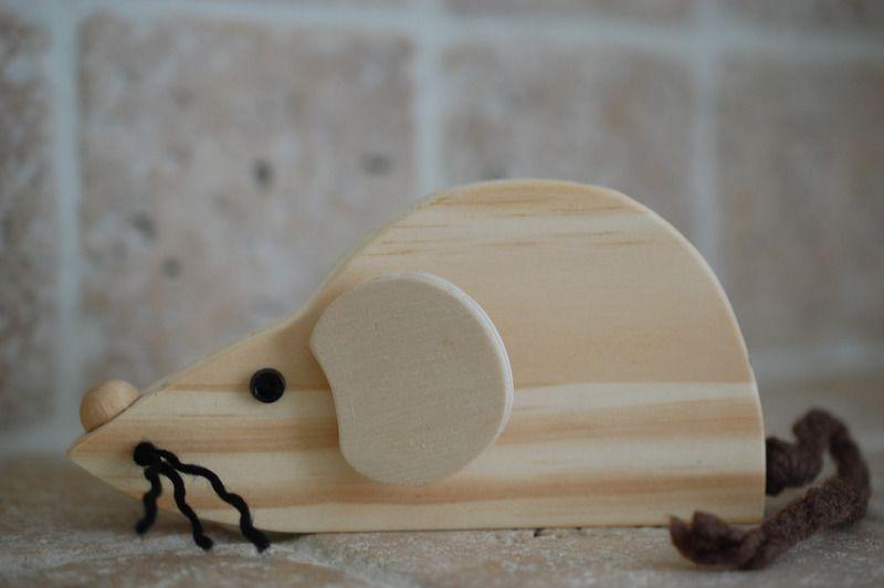 Souris en bois naturel - objets déco - Auvernha - Fait Maison - tour a bois fait maison