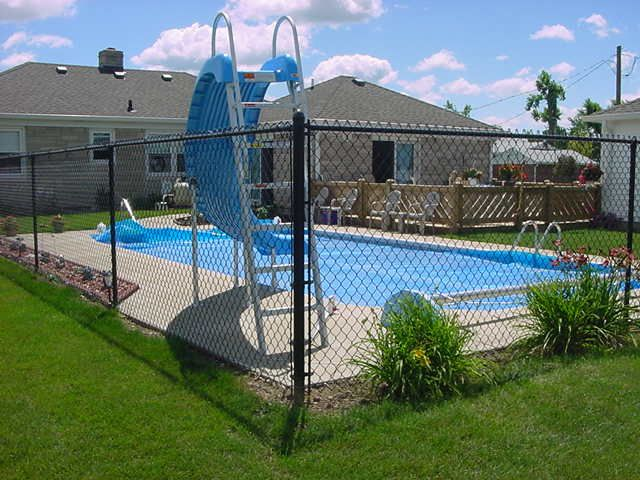 6 Foot Chain Link Around Pool Black Chain Link Fence Chain Link Fence Installation Chain Link Fence