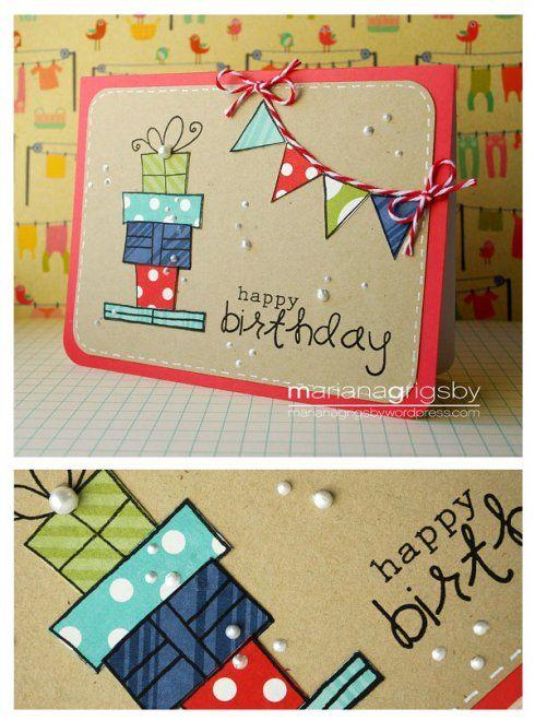 25 best ideas about tarjeta felicitacion cumplea os on - Ideas para hacer tarjetas de cumpleanos ...