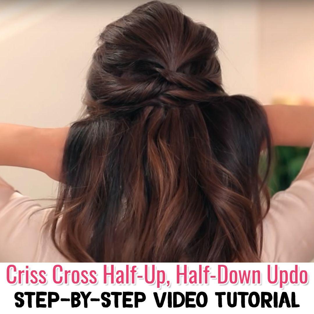 Half up half down easy hairstyle step by step video tutorial