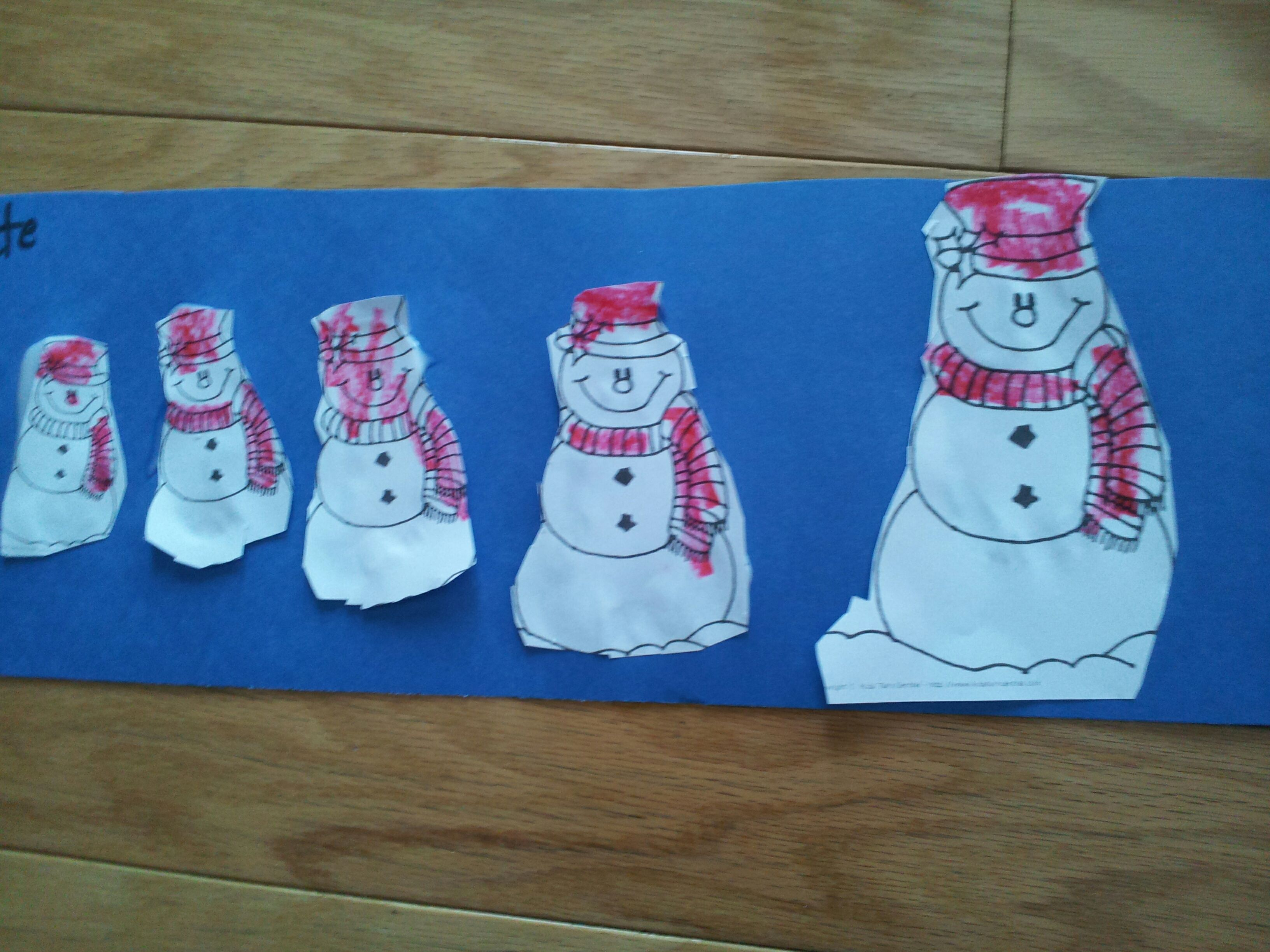 Snowman Sequencing Smalll To Large With Images
