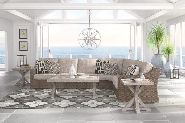 Beachcroft 4-Piece Outdoor Seating Set   Outdoor seating ... on Beachcroft Beige Outdoor Living Room Set id=65702