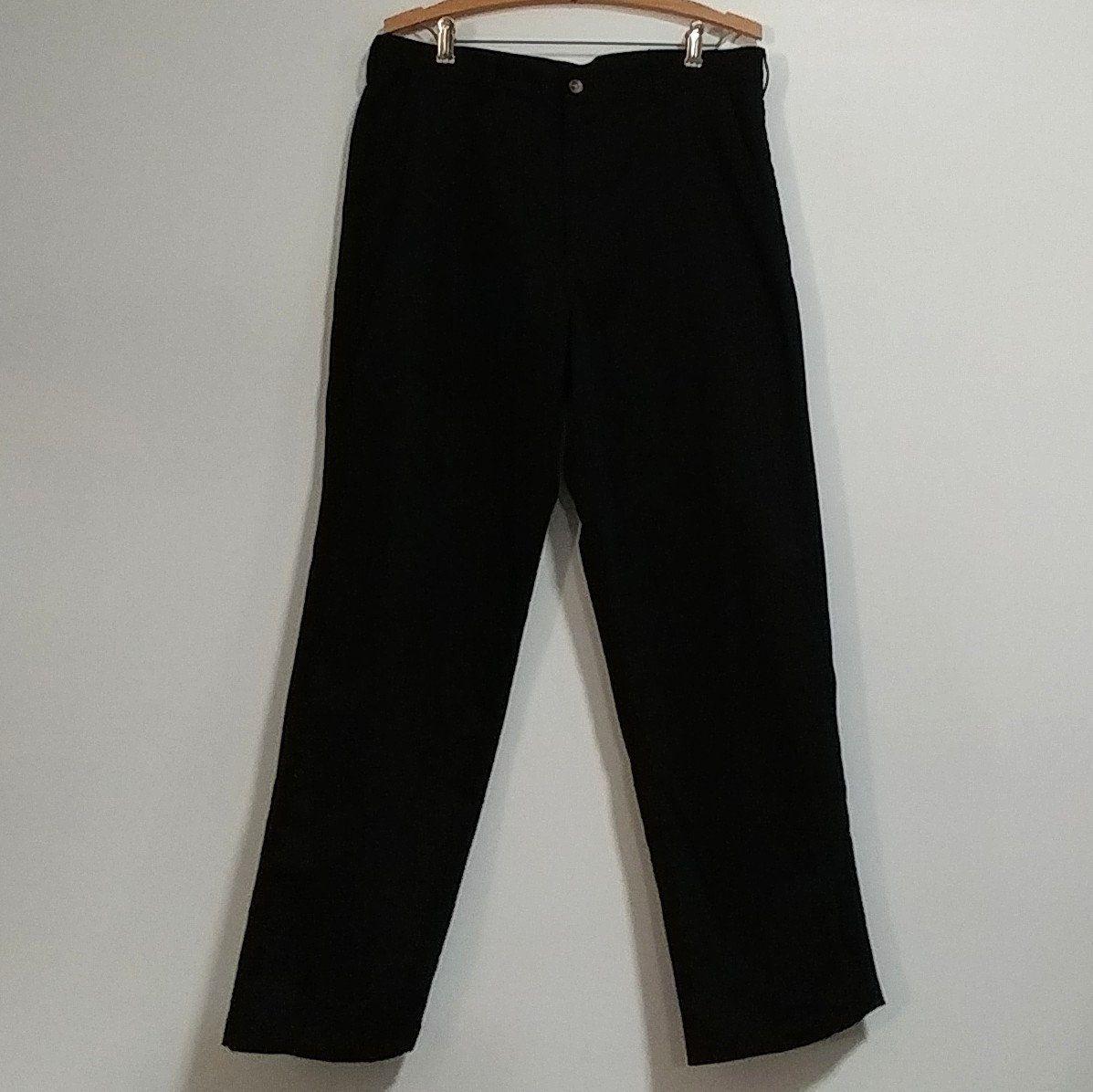 34x30 Rise 14 High Waist Solid Black Dress Slacks George Brand Straight Leg 4 Pocket 8 Belt Loops Tailor Polyester Cotton Trousers Menswear Black Dress Slacks Dress Slacks Solid Black Dress [ 1196 x 1197 Pixel ]