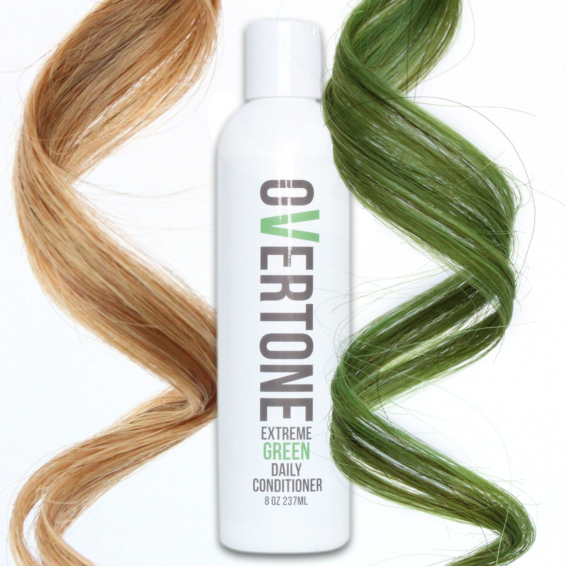 oVertone Extreme Green Daily Conditioner is a damage-free way to add color to your hair and keep the color looking fresh 24/7.