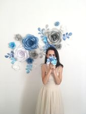 Paper Flower Backdrop  Paper Flowers  Paper Flower Wall  Giant Paper Flowers (code:#127) #bigpaperflowers