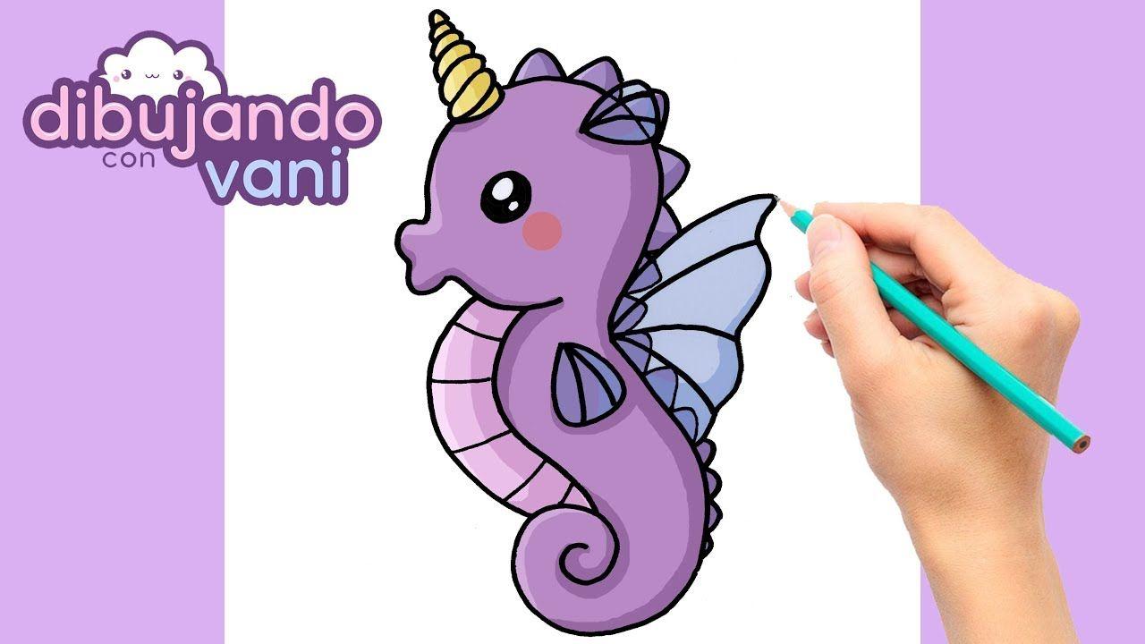 Como Dibujar Un Caballito De Mar Unicornio Kawaii Dibujos Imagenes Fac Caballito De Mar Dibujo Como Dibujar Un Caballo Dibujos De Unicornios