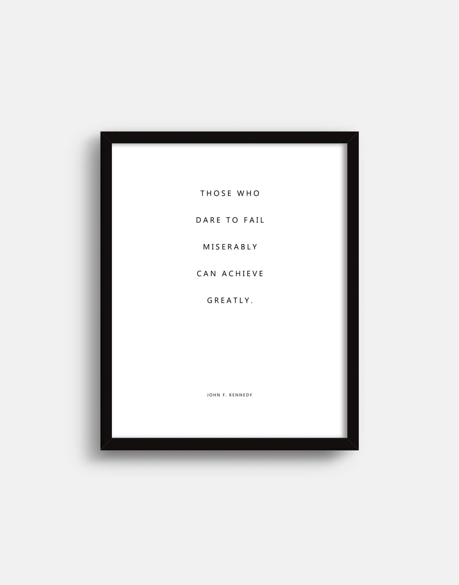 John F Kennedy Inspirational Quote Print Jfk Quote Modern Etsy Inspirational Quotes Quote Prints Jfk Quotes