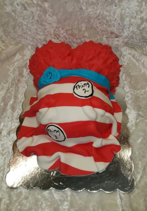 Dr Suess Baby Shower Belly Cake For Twin Boys Baby Ideas