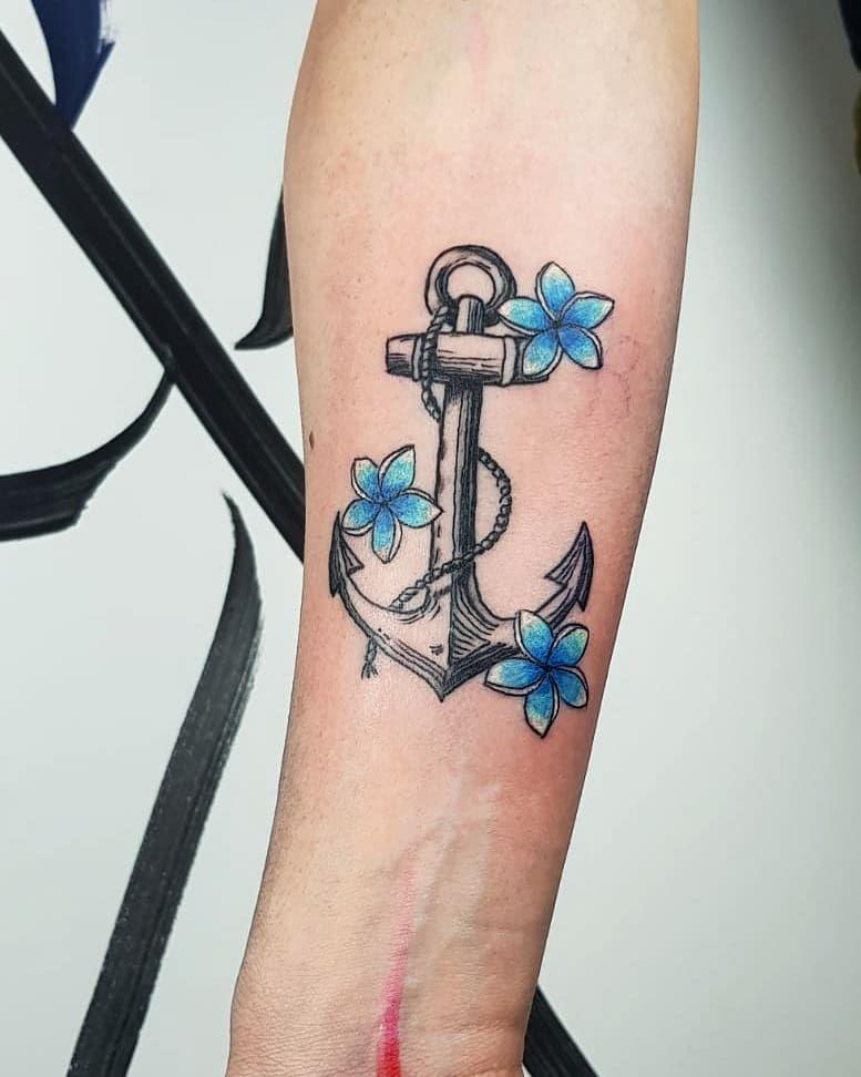 50 Exclusive Anchor Tattoo Design For Women | Anchor ...