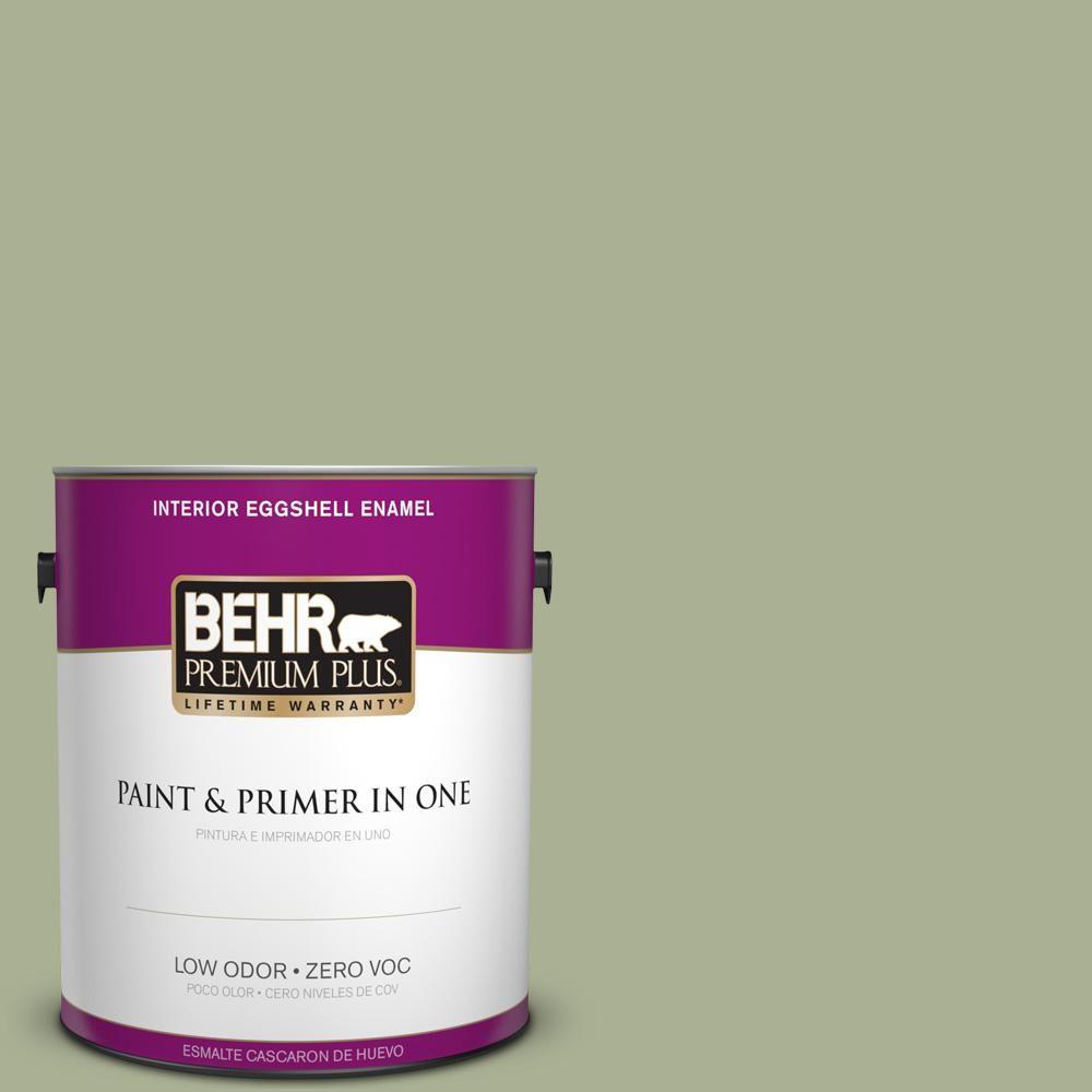BEHR Premium Plus 1 gal. #PPU10-06 Spring Walk Zero VOC Eggshell Enamel Interior Paint