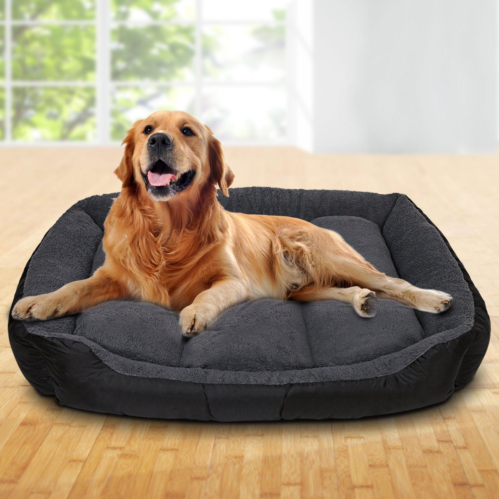 Large Fleece Washable Pet Bed Grey in 2020 Washable