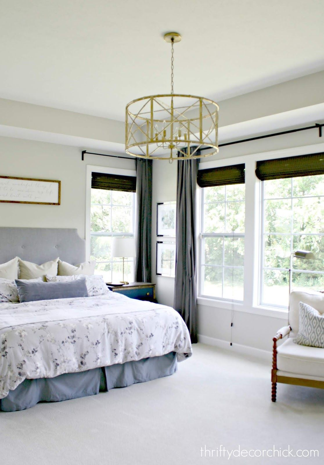 Going gold (and bamboo!) in the master bedroom | DIY | Bedroom light ...