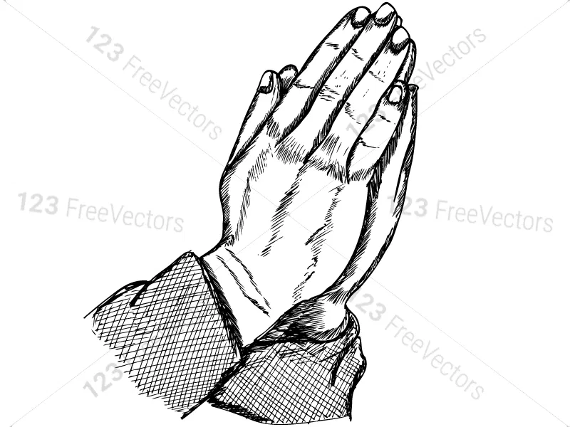 hand drawn praying hands vector and photoshop brush pack 01 how to draw hands photoshop brushes praying hands pinterest