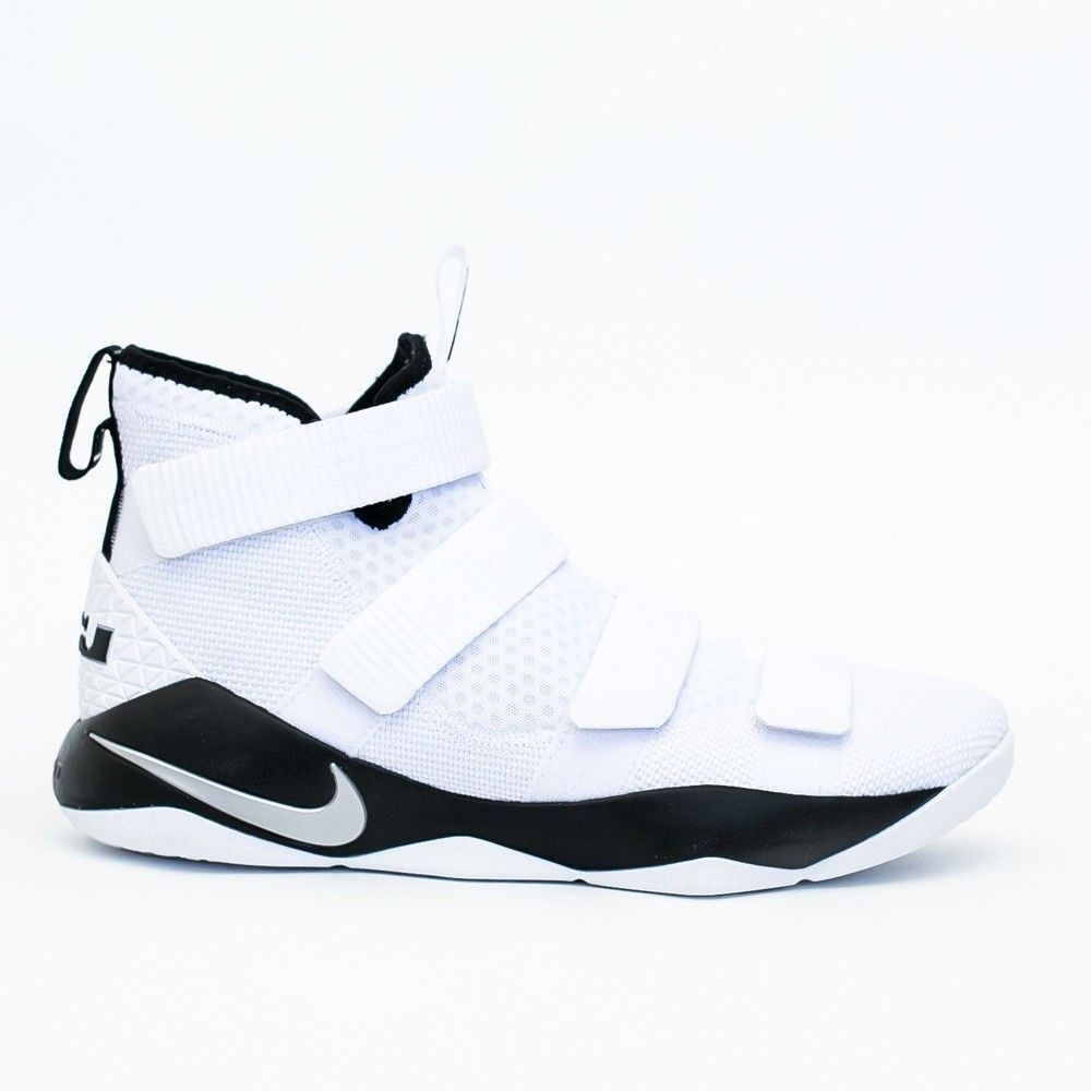 b77a032cee6c Nike Lebron Soldier XI TB Mens Basketball Shoes 11.5 White Black 943155 106   Nike  BasketballShoes