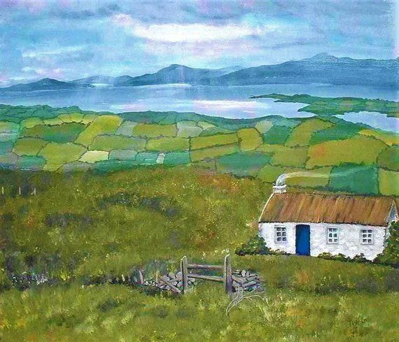 07e14fa6c Irish Print, Irish Landscape, Bantry Bay County Cork, Ireland Print, Irish  Painting