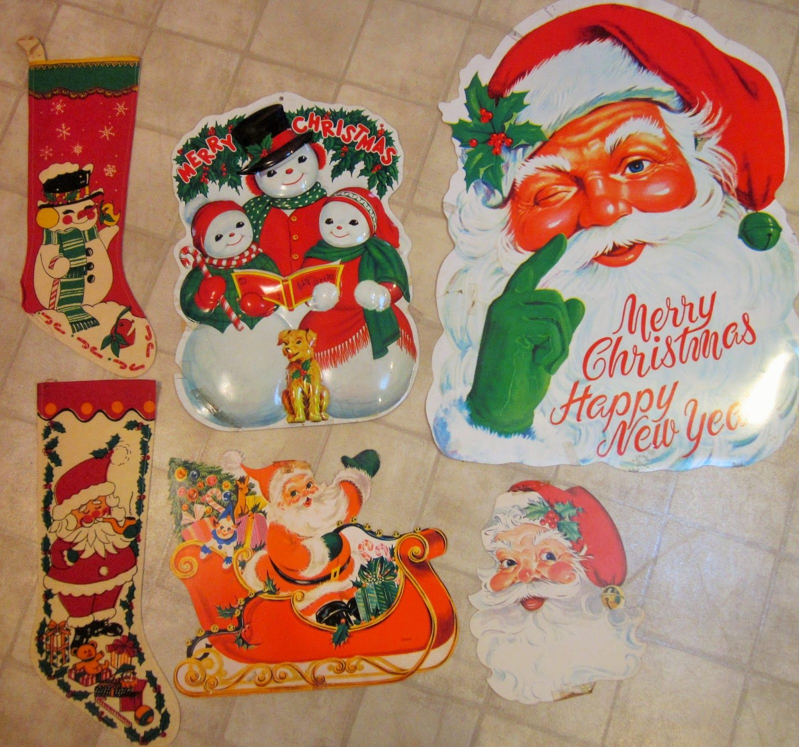 Old Christmas Decorations.Old World Santa Diecuts Old Christmas Stockings Some Old