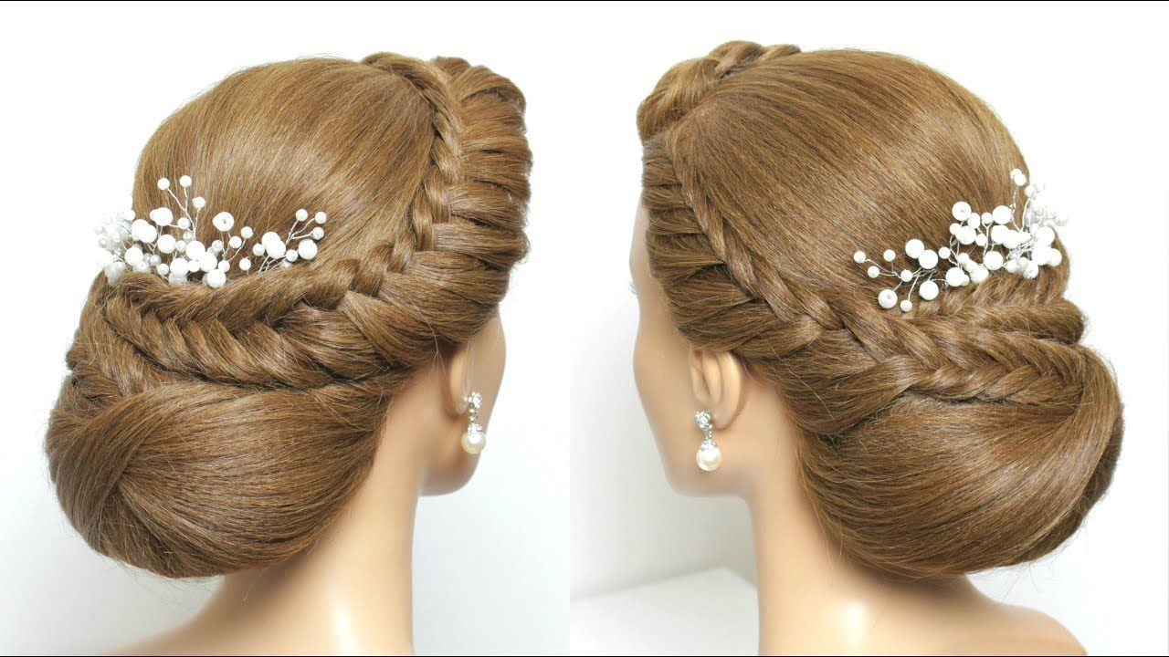 Simple Bridal Updo Hairstyle For Long Hair Tutorial Step By Step Youtube Long Hair Styles Long Hair Tutorial Hair Tutorials For Medium Hair