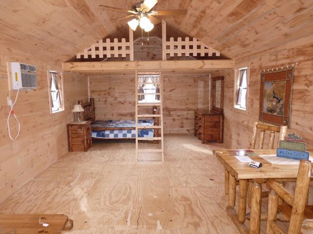 Small log cabins small log cabins portable wood cabins for Cabin loft bedroom ideas