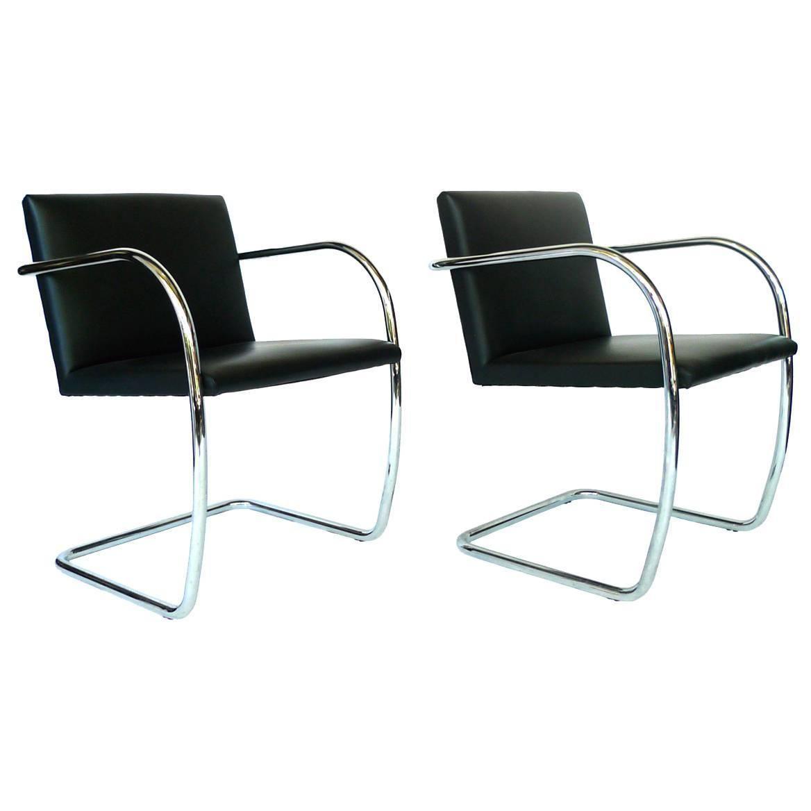 Chaise Brno Mies Van Der Rohe pair of mies van der rohe brno chairs | mies van der rohe
