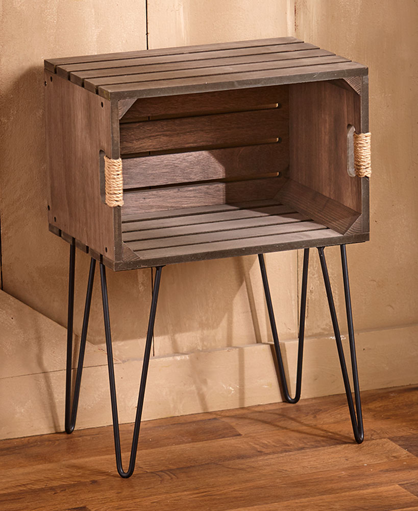 Photo of Rustic Wooden Crate End Tables