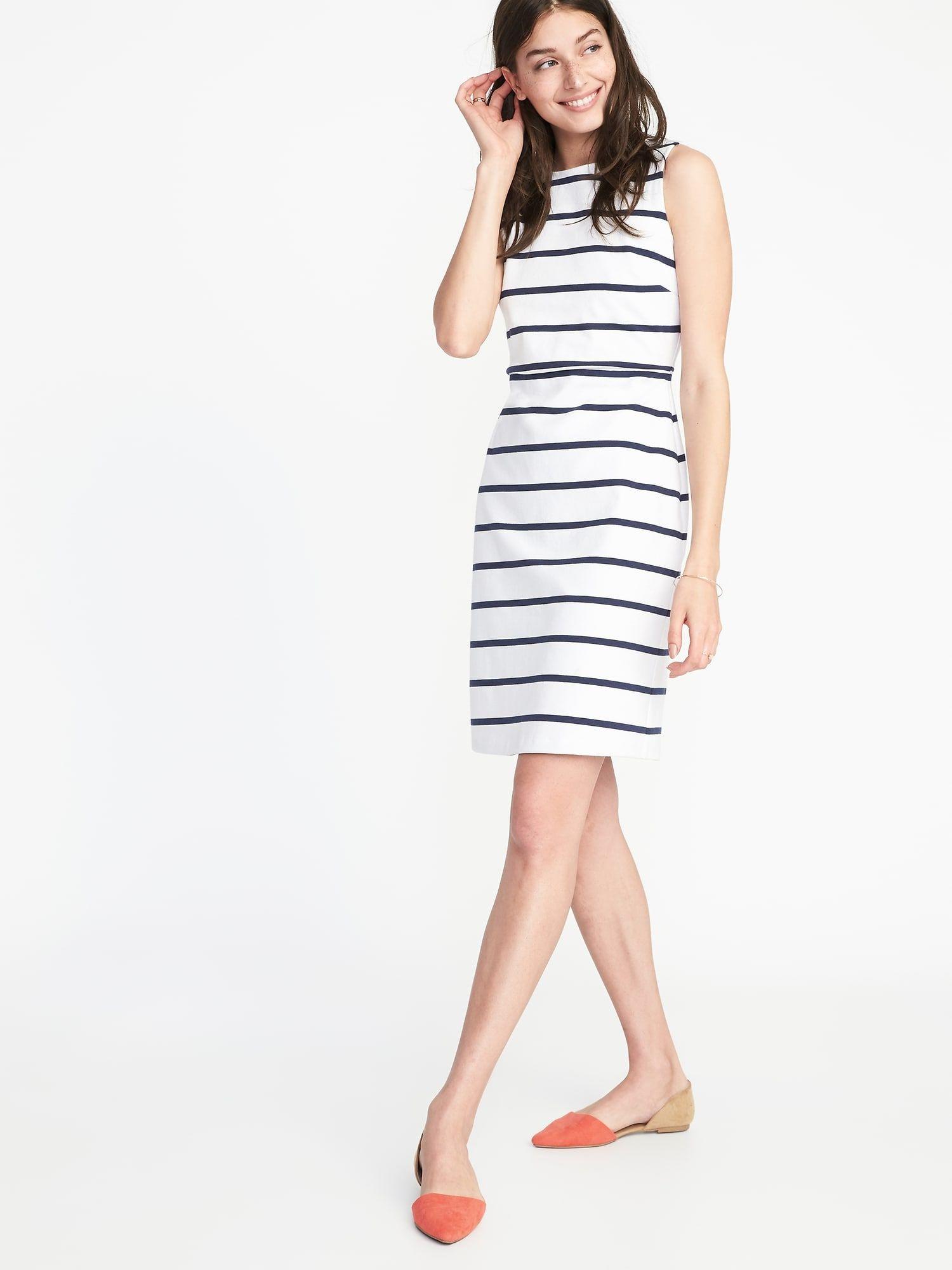 1c6abac204f04 Sleeveless Ponte-Knit Sheath Dress for Women