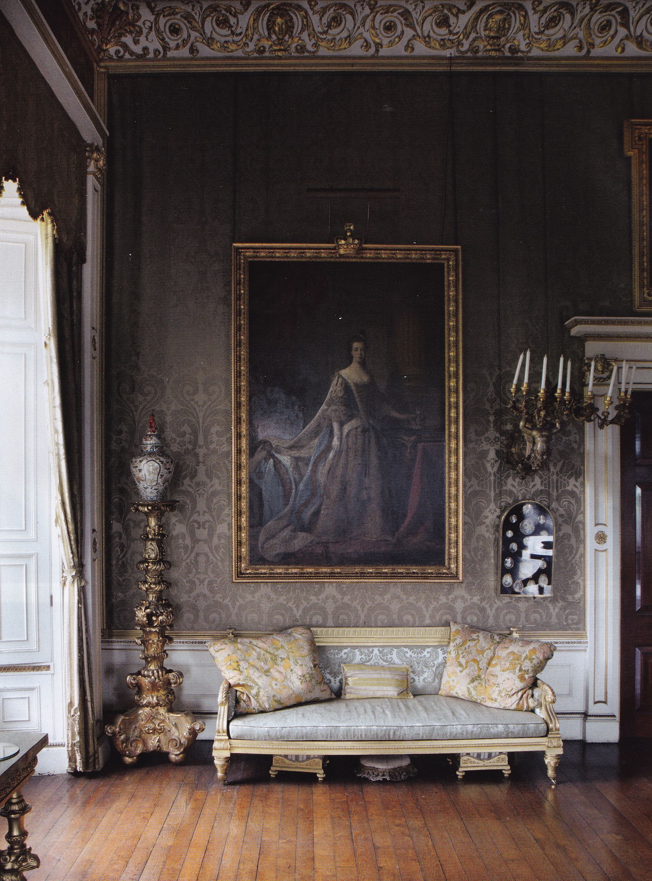 English Drawing Room: Great Drawing Room-Badminton House-British House And