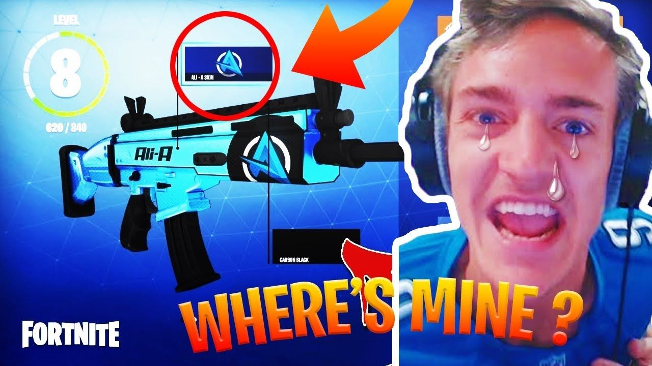 Ali A Fortnite reacts to ali a weapon skin in fortnite fortnite | fortnite