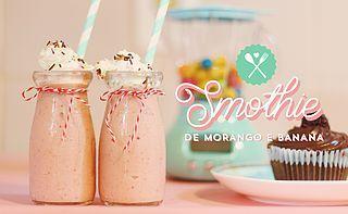 Receita: Smoothie de Morango com Banana