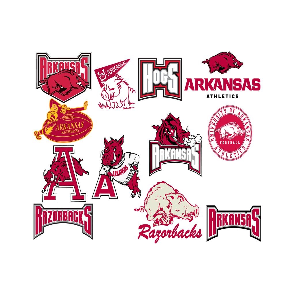 Arkansas svg, Football Team Logo Svg, Football Svg, NCAA