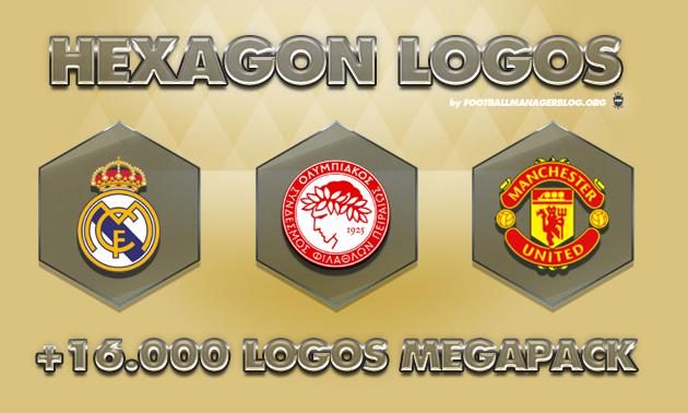 Football Manager Hexagon Logos Megapack