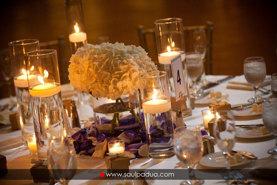 CD Florals Centerpiece: Ivory Hydrangea centerpiece ...