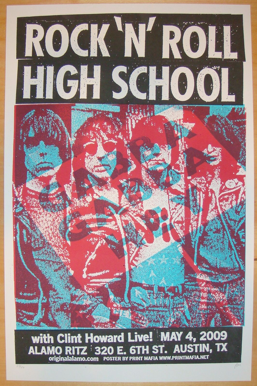 Rock N Roll High School Silkscreen Movie Poster By Print Mafia Mondotees Http Www Jojosposters Com Products 2009 Ro Rock N Roll Music Poster Rock Posters