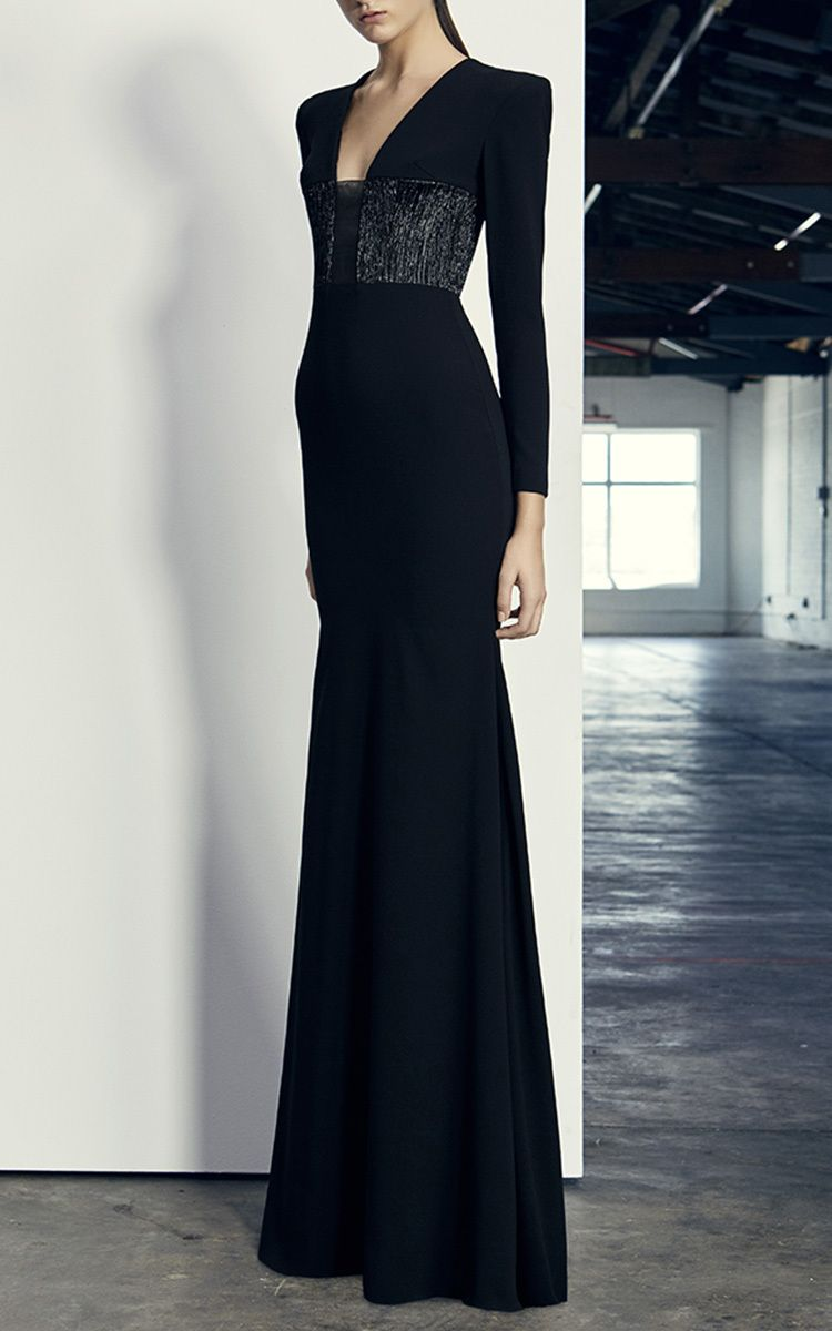 66a38dd21ad Easton Lurex Long Sleeve Gown by ALEX PERRY for Preorder on Moda Operandi