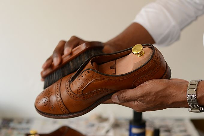 How to shine your dress shoes