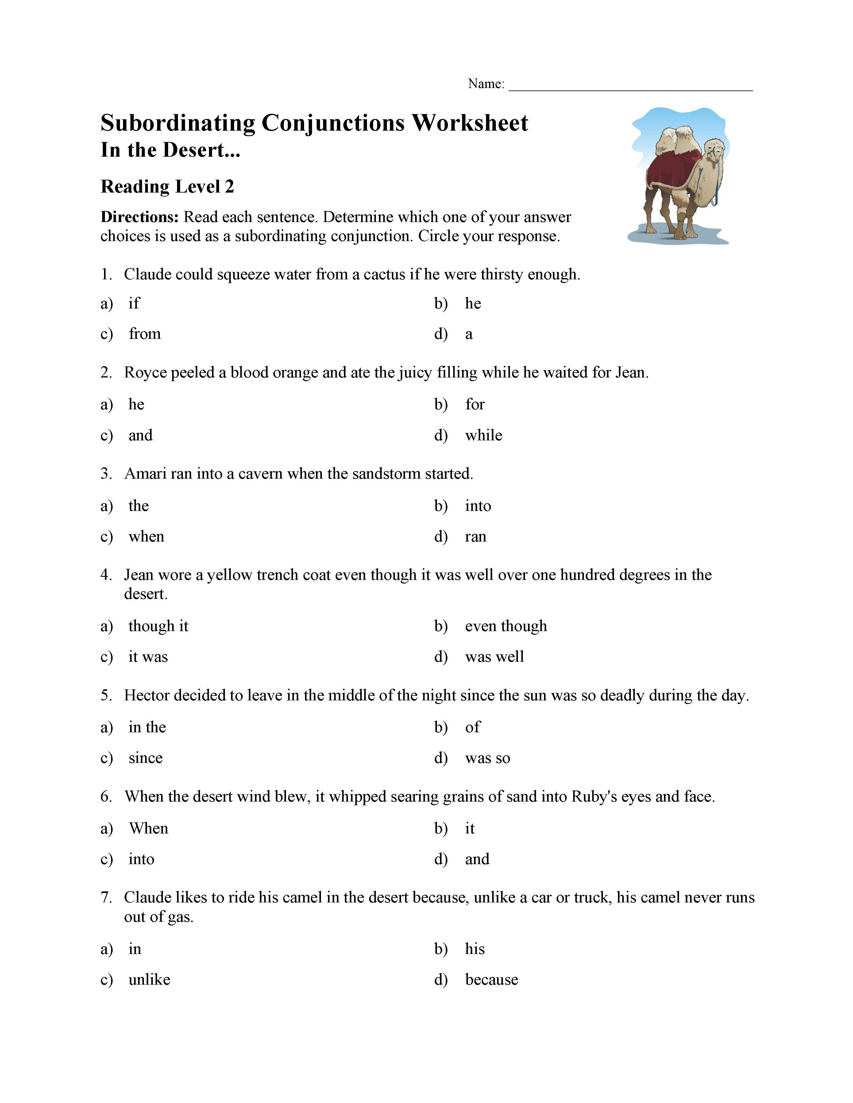 34 Simple Conjunctions Worksheets Design Ideas