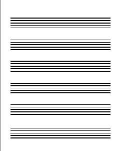 large staff paper This music staff paper has lines that are extra large for the visually impaired free  to download and print.