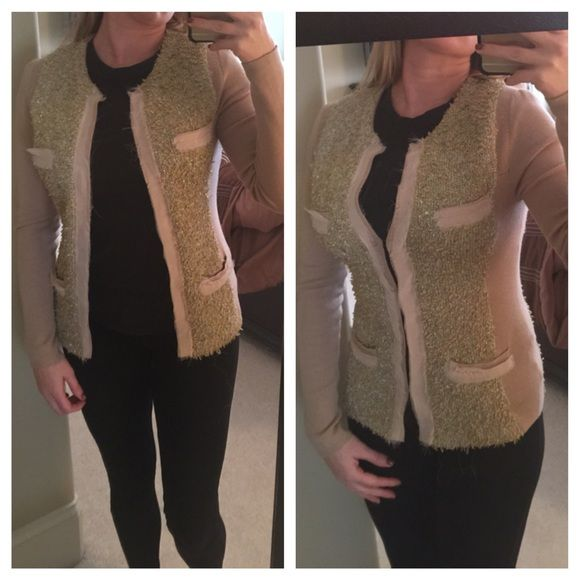 MM couture Miss Me cardigan sweater yellow gold Beautiful sweater by miss me mm couture size small has hook closures. Miss Me Sweaters Cardigans