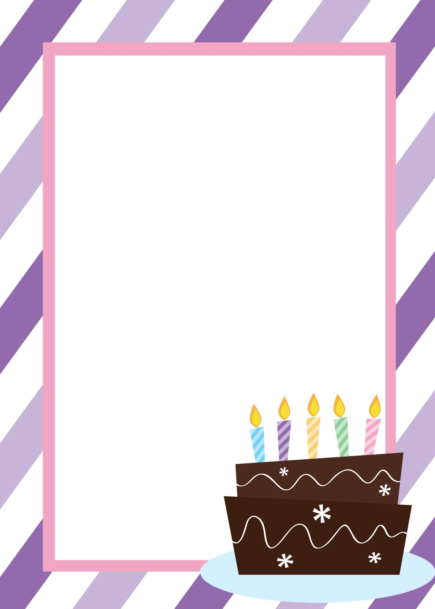 Birthday Invitation Template In Word – Blank Card Template for Word