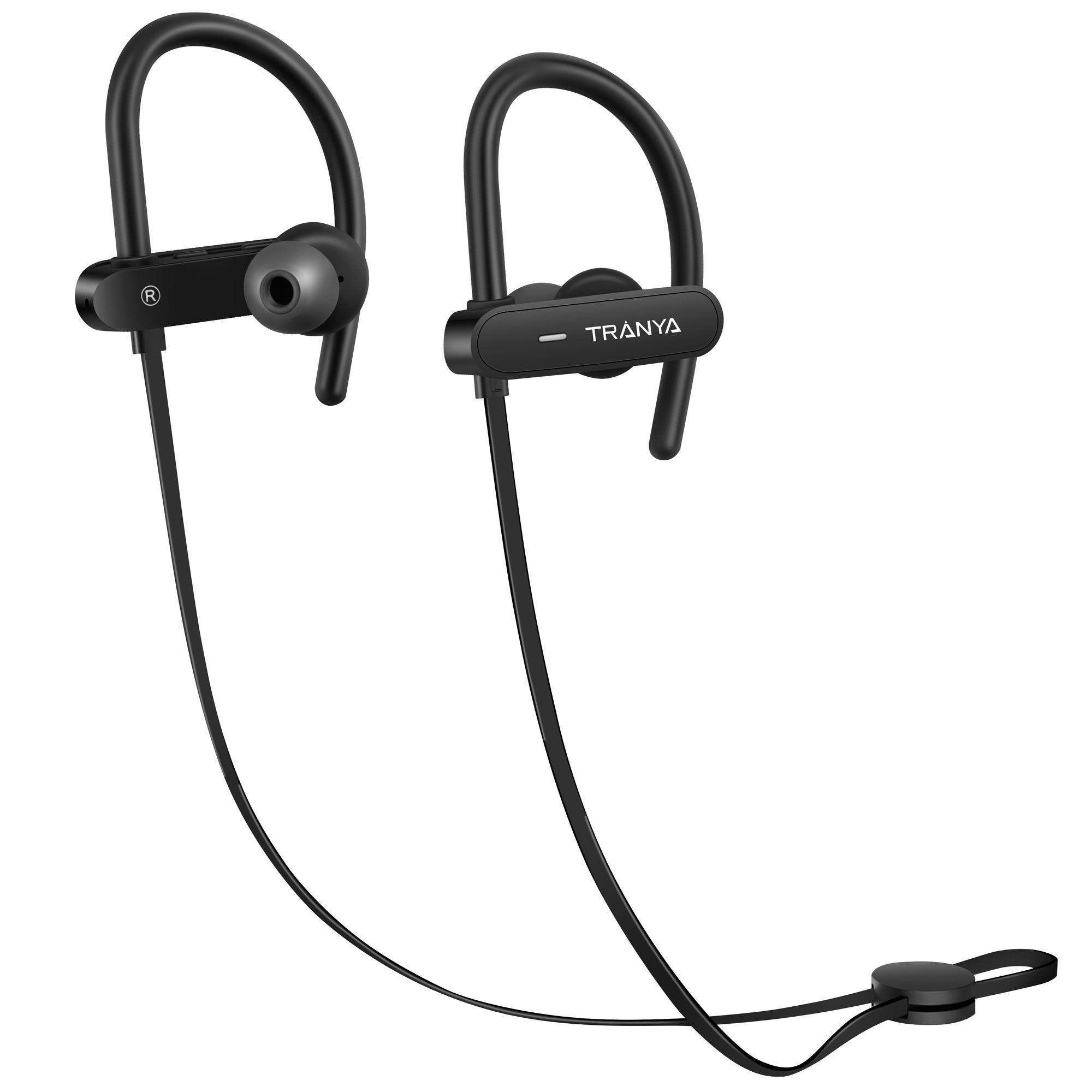 74af73f2e9b Tranya Bluetooth In-ear Wireless HD Sound Sports Headphones IPX7 Sweat  Proof, Secure Fit