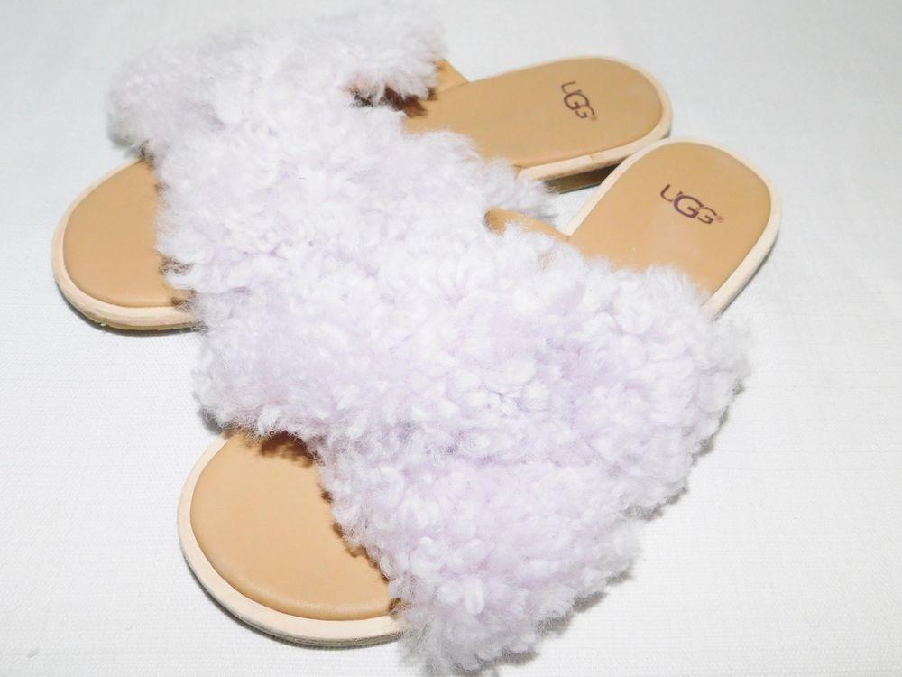 66c852ca3e7 NEW NWOB WOMENS 7 LAVENDER FOG UGG JONI SLIDE CURLY SHEEPSKIN SLIPPERS  SANDALS  fashion  clothing  shoes  accessories  womensshoes  sandals  ad  (ebay link)