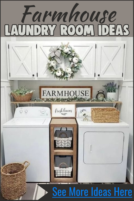 Farmhouse Style Small Laundry Room Ideas To Remodel Your Tiny Laundry Room In Rustic Farmhouse Style Dream Laundry Room Stylish Laundry Room Laundy Room