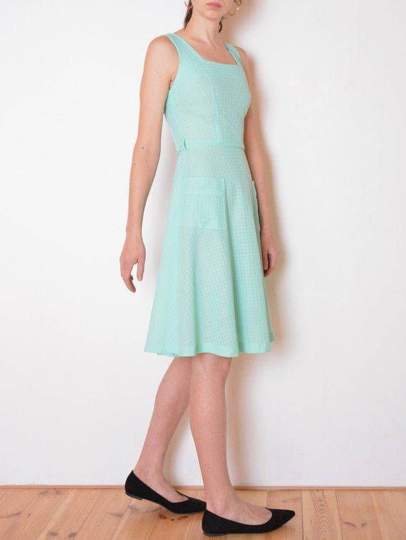 03bae88cbf0f 80 s mint green skater dress